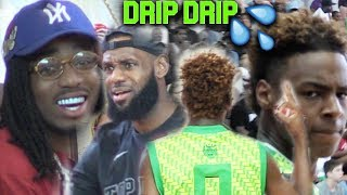 Bronny Jr GOES STEPH CURRY MODE w/ QUAVO & LeBron James WATCHING! Migos Certified?!?! DAT WAY!