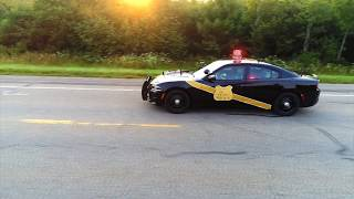 100th anniversary Michigan State Police Car