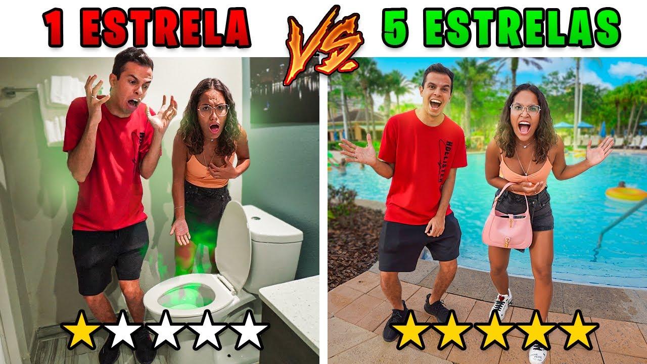 HOTEL 5 ESTRELAS VS HOTEL 1 ESTRELA NOS ESTADOS UNIDOS! - (O QUE É ISSO?)