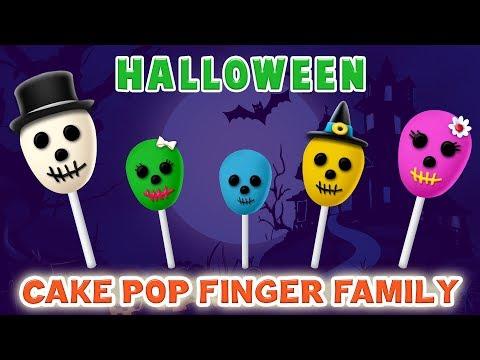 Ghost Cake Pop Finger Family Song | Halloween Finger Family Songs