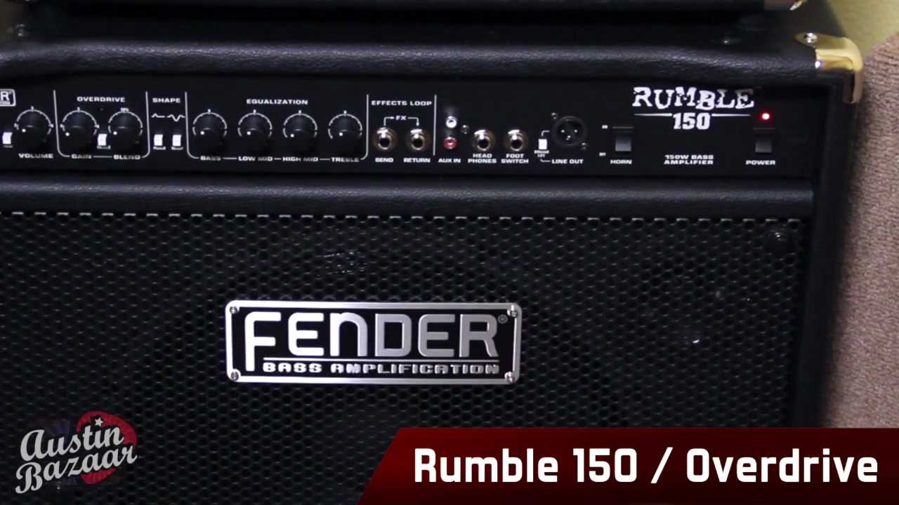 Fender Rumble Series Bass Combo Amps Demo Amp Overview Youtube