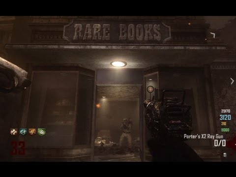 "Town ""Rare Books Massacre"" 4 Player Camping strategy w ThatGuyWhoCamps - Black Ops 2 Zombies"