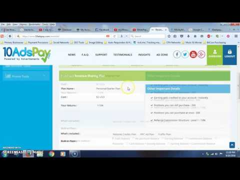10AdsPay Tutorial | How To Get Paid 48 Times A Day Buying Advertising!