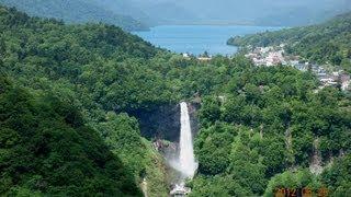 明智平展望台から見る華厳の滝2012年フルHD The Kegon Falls