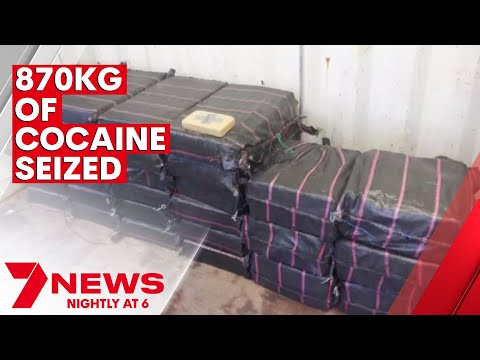 870 kilograms of cocaine being transported from Colombia to Australia   7NEWS