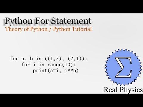 Python For Statements (Theory of Python) (Python Tutorial) thumbnail