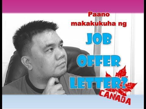 BUHAY CANADA: Paano Makakukuha Ng JOB OFFER LETTER Sa CANADA