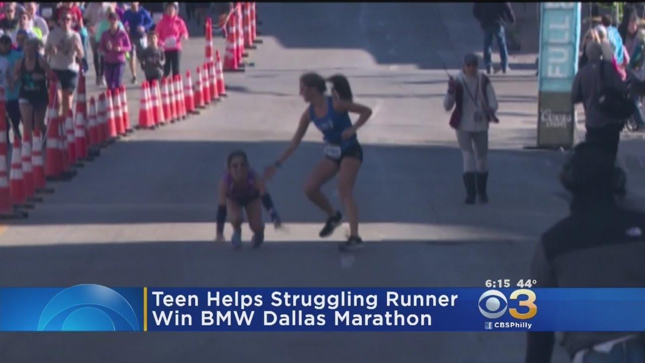 Teen Helps Struggling Runner Finish Marathon