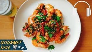 大蒜奶油辣炒蝦/Garlic Butter Shrimp/エビのガーリックバター炒め | The Sound Of Food