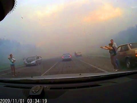 Взрывы в Чапаевске  Ехал в Чапаевск попал под взрыв снарядов на полигоне в Чапаевске