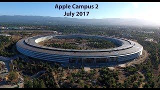 Apple Park / Apple Campus 2 - Last creation of Steve Jobs (July 2017 update) drone 4K
