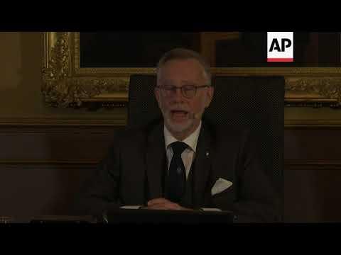 Nobel Academy announces winner of Nobel Prize for Economics