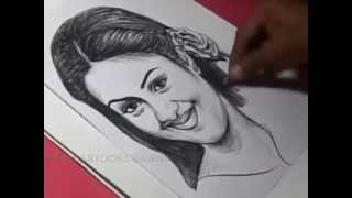 How to Draw Tamil Film Actress JYOTHIKA Drawing