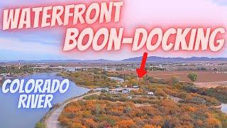 Ehrenberg AZ FREE CAMṖING ALONG COLORADO RIVER...Waterfront BOONDOCKING