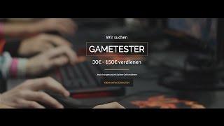 Online Geld verdienen 30€ - 150€ GAMETESTER [HD] 2017