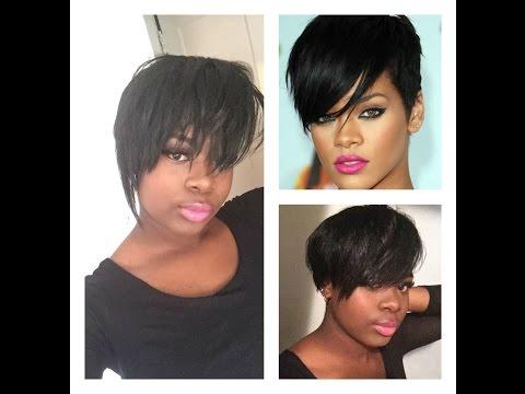 Rihanna hair Cut without Cutting your Hair| Queenie Bravo