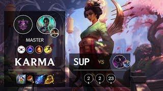 Karma Support vs Morgana - KR Master Patch 10.4