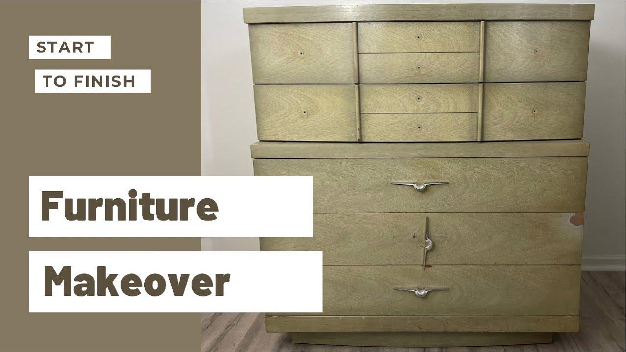 Furniture Makeover   Start to Finish Furniture Flip   Trash to Treasure DIY