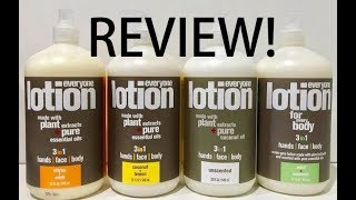 Everyone Lotion Hand Face Body Review No Parabens Dyes Mineral Oil Cruelty GMO Gluten EDTA Free