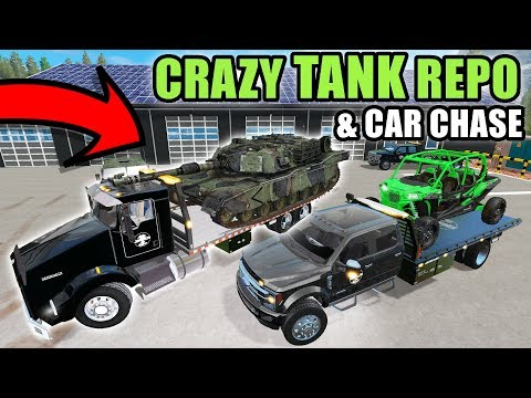 TANK REPO & THE CRAZY GUY CHASES US DOWN WITH A SEMI | FARMING SIMULATOR 2017