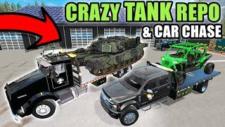 TANK REPO & THE CRAZY GUY CHASES US DOWN WITH A SEMI | FARMING…
