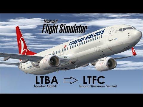 Flight Simulator X   İstanbul(LTBA) - Isparta(LTFC)   3   Zorlu Manuel İniş