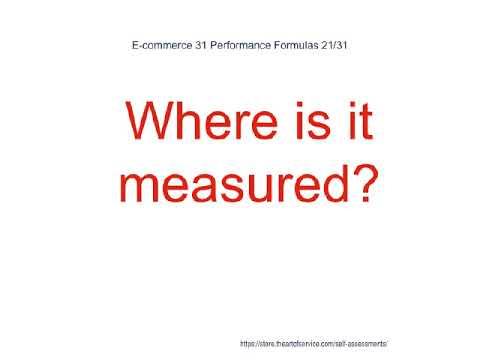 E commerce 31 Performance Formulas
