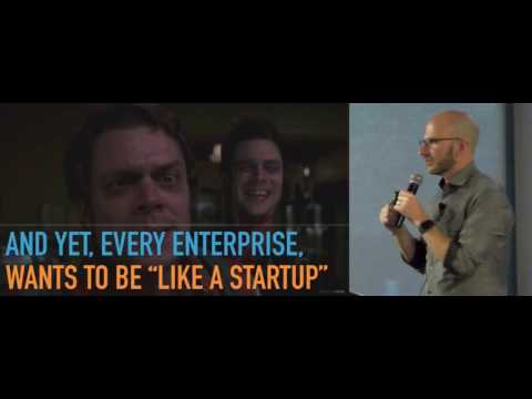 Jeff Gothelf talks about scaling Lean UX in a large organisation at IxDA Sydney Feb 22, 2017