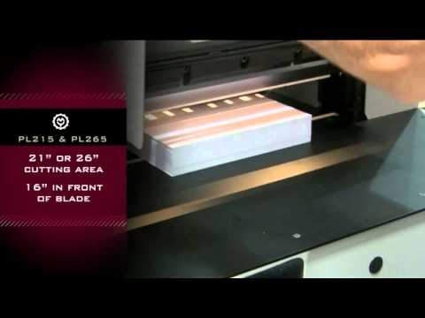 Intimus Powerline PL215 PL265 Programmable Paper Cutters De