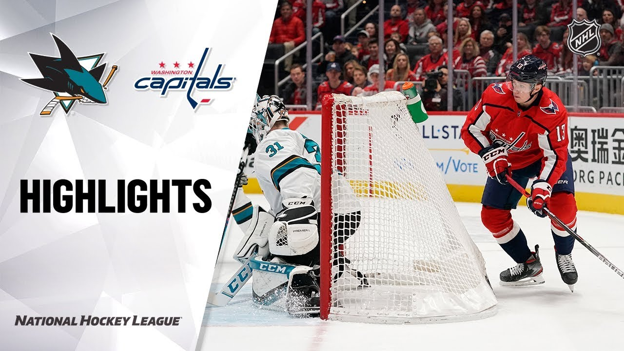 NHL Highlights | Sharks @ Capitals 1/5/20
