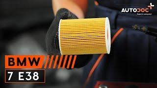 Kā nomainīt Eļļas filtrs BMW 7 (E38) - video ceļvedis