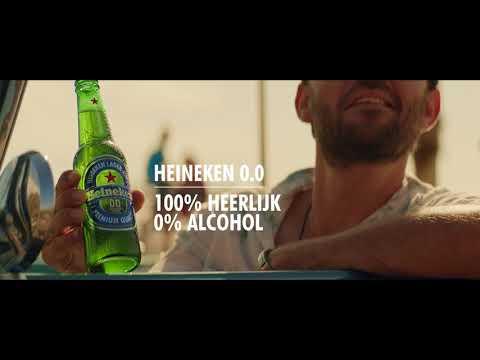 Heineken 0.0 - 100% heerlijk, 0% alcohol.