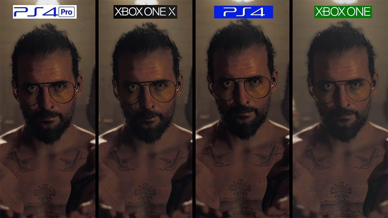 Far Cry 5 ONE X Vs PS4 Pro Vs PS4 Vs ONE GRAPHICS