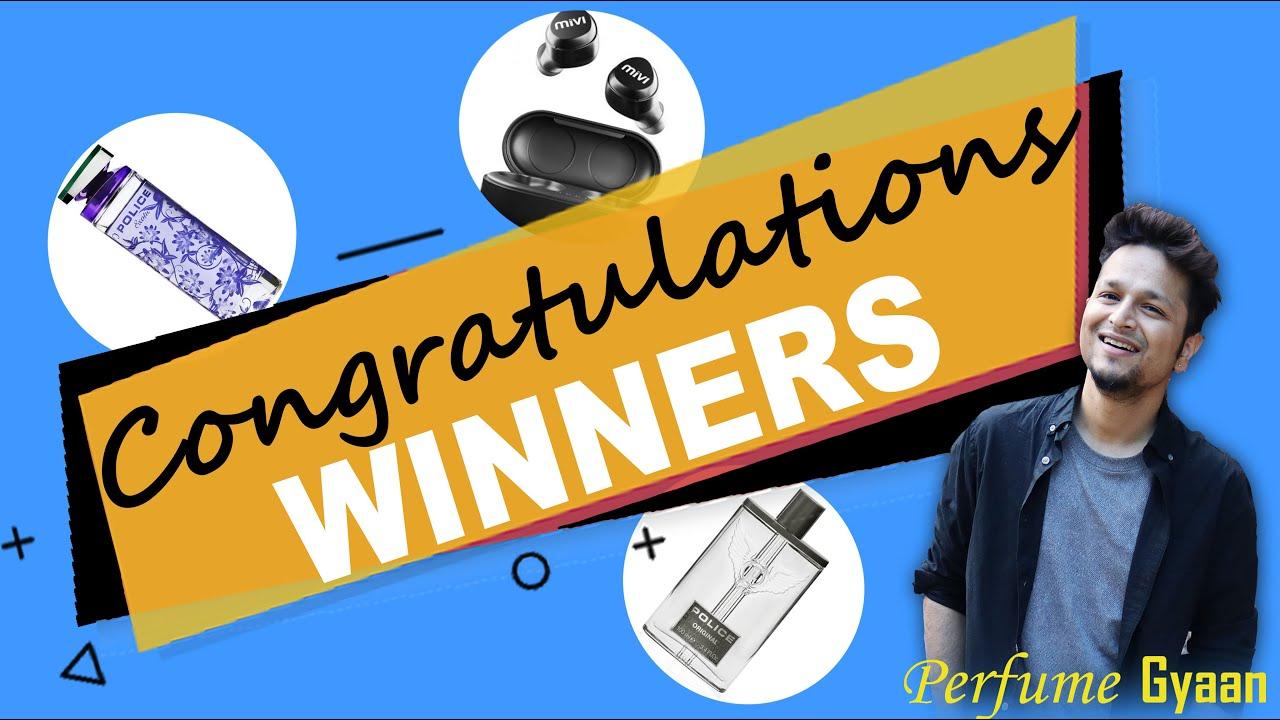 Giveaway Result 🎁 Winners Announcement 👏 🎉हिंदी में Police Perfume | Mivi True Earbuds