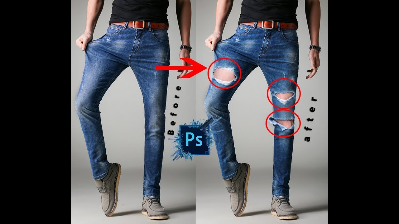 9ced2cf8 Editing in photoshop convert Your Simple Jeans to Damage jeans Easy Step  !!2017!!