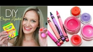 DIY Lipstick out of CRAYONS! + See the Colors On My Lips!