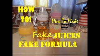 How To Make Fake Baby/Infant Formula and Orange Juice For Your Reborn Baby!