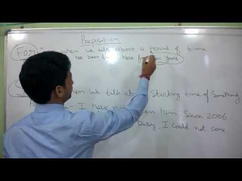 preposition in English language