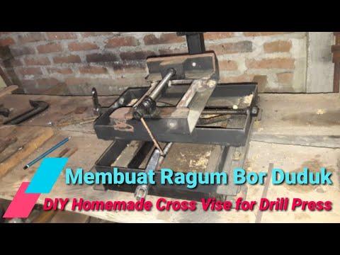 Membuat Ragum Catok Bor Duduk | DIY Homemade Cross Vise for Drill Press
