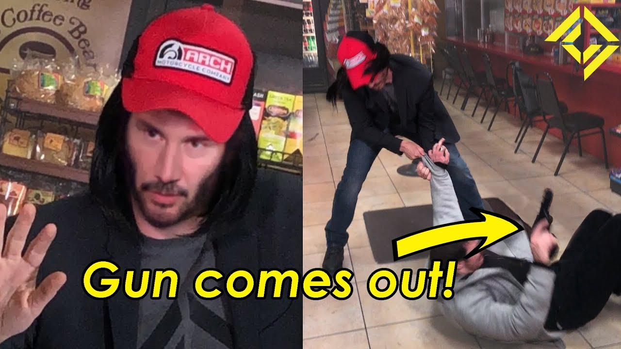 Keanu Reeves udaremnia napad na sklep
