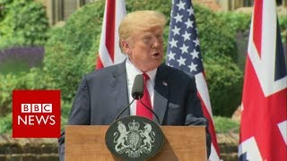 Press conference : Donald Trump and Theresa May - BBC News