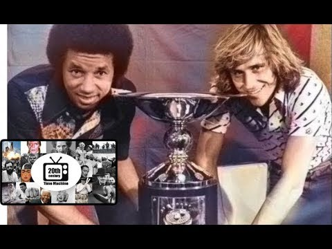 Tennis Great Arthur Ashe Defeats 18 Yr Old Bjorn Borg in WCT Finals 1975
