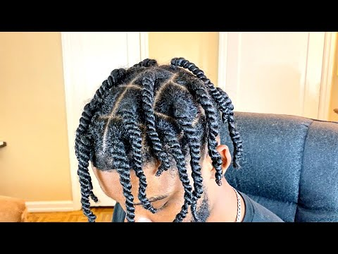 how-to:-two-strand-twist-men!-(grow-longer-hair-faster)