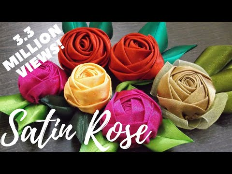 D.I.Y. Handmade Satin Rose - Tutorial   MyInDulzens