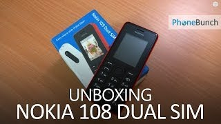 Nokia 108 Dual SIM Unboxing and First Hands on