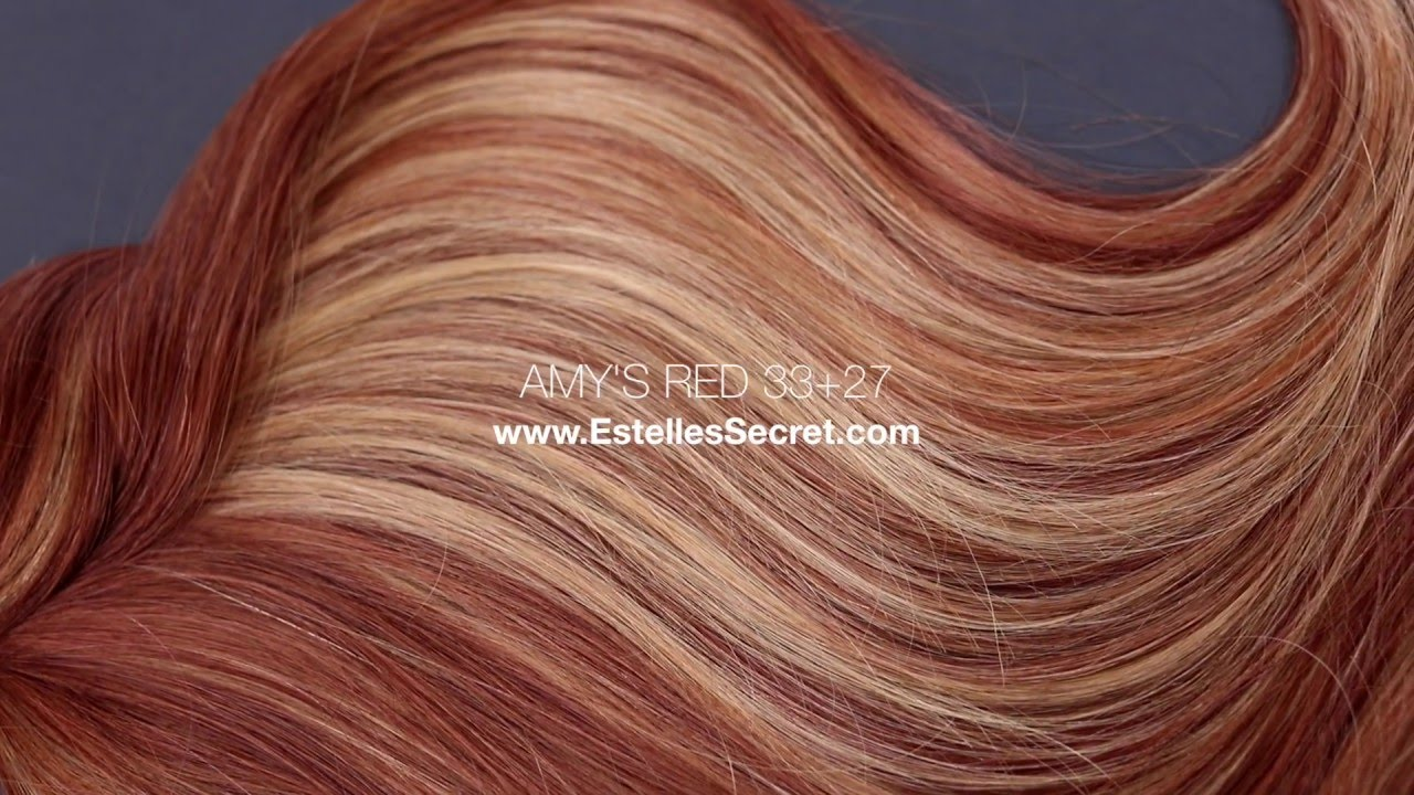 New Hair Extensions Shade Amys Red 3327 Youtube