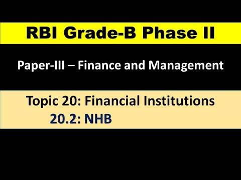 20 2 National Housing Bank NHB |Objectives and Functions of NHB- National Housing Bank