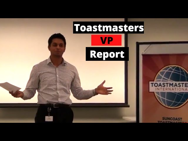 [FLASHBACK] Toastmasters External Vice President's Report