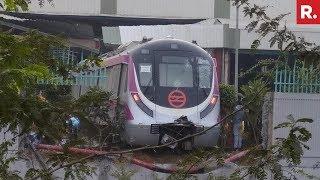 Delhi Metro Train Crashes Into A Wall During Its Test Run - Full Video