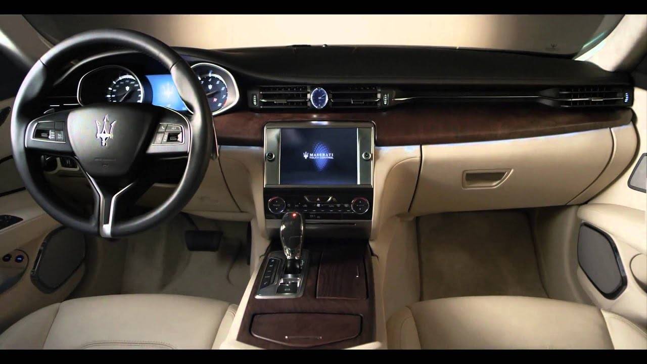 2013 maserati quattroporte in detail first full commercial interior